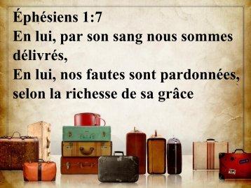 Éphésiens 1:7 En lui, par son sang nous sommes délivrés ... - Actival