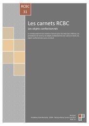 Objets confectionnés Les carnets RCBC - Académie d'Aix-Marseille