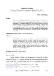 Ecodesign, sustentabilidade e o Projeto Limonada - Ceart - Udesc