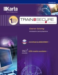 SECTION 1 Information Security Training Solution - Karta ...