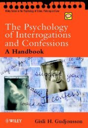 The Psychology Of Interrogations And Confessions A ... - Cryptome