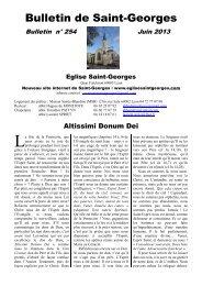 Bulletin de Saint-Georges - EGLISE SAINT GEORGES à Lyon
