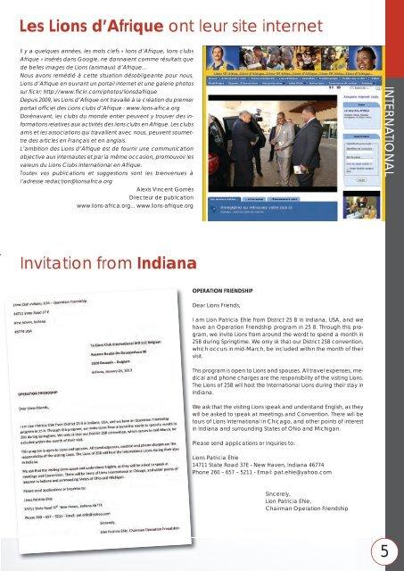 Internationaal - Lions Clubs International - MD 112 Belgium