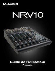 Manuel d'utilisateur de la NRV10 - M-AUDIO
