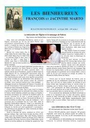 bulletin 02-2006 - Secretariado dos Pastorinhos
