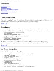 MS-836 Secure Web Access Using Microsoft Proxy Server 2.0