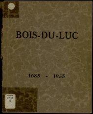 BOIS-DU-LUC - Mémoires du Hainaut