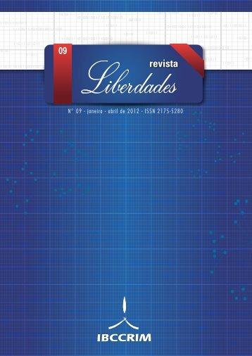 N° 09 - janeiro - abril de 2012 - ISSN 2175-5280 - Revista Liberdades