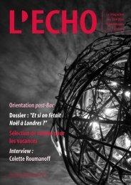 documents - L'ECHO, le magazine des familles francophones de ...