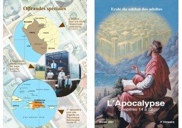L'Apocalypse - Seventh Day Adventist Reform Movement