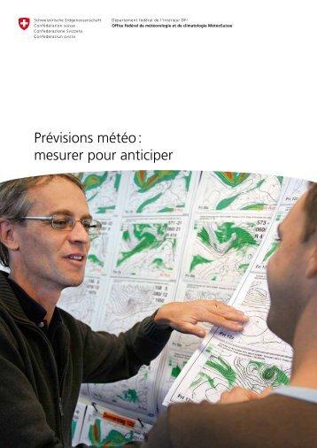 Prévisions météo : mesurer pour anticiper - Météo Suisse - CH