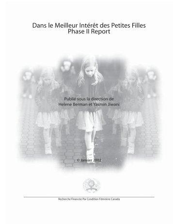 Dans le Meilleur Intérêt des Petites Filles Phase II Report