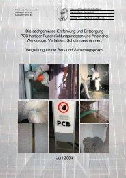 Die sachgemässe Entfernung und Entsorgung Pcb-haltiger - Abfall.ch