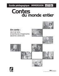 Contes du monde entier - Immersion - TFO