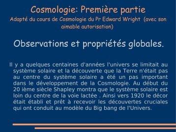 Cours Cosmologie première partie