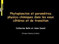 Phytoplancton et paramètres physico-chimiques dans les ... - Aquaref