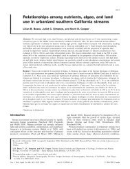 Relationships among nutrients, algae, and land use in urbanized ...