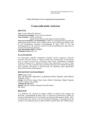 Organisme de quarantaine OEPP - European and Mediterranean ...