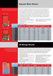 Supastor Water Heaters - Flamco
