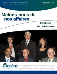 Décembre 2011 - Le Conseil de développement économique de la ...
