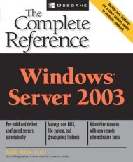 Windows Server 2003: The Complete Reference ... - Directory UMM