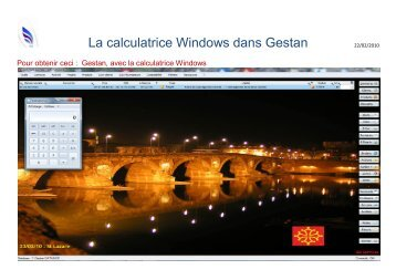 La calculatrice Windows dans Gestan