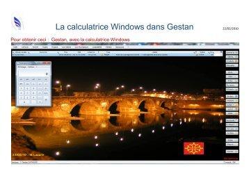 La calculatrice Windows dans Gestan