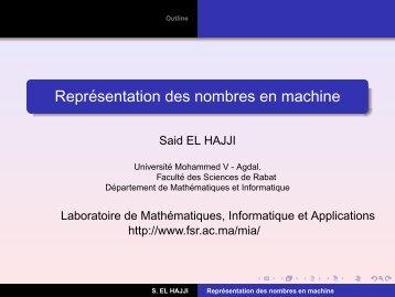 Représentation des nombres en machine - cours pour les smi