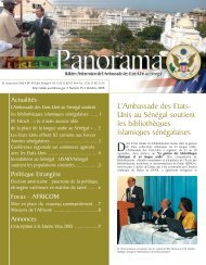 PAN- Panorama N°95 - Embassy of the United States Dakar Senegal