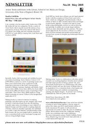 Issue 18 - Book Arts - University of the West of England