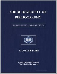 A BIBLIOGRAPHY OF BIBLIOGRAPHY - World eBook Library
