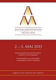 2. – 3. MAI 2013 - Antiquariatsmesse München