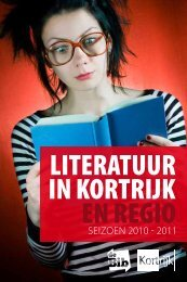 LITERATUUR IN KORTRIJK EN REGIO - Stad Kortrijk