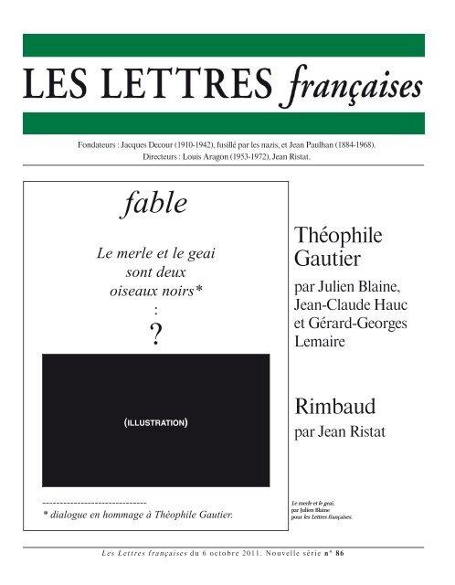 Telecharger L Archive Des Lettres Francaises Du 6 Octobre 2011