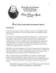 Bicentenaire de la naissance de Mélodie Dufresne, le 9 novembre ...