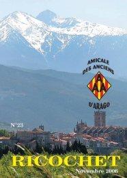 N°23 - Novembre 2006 - L'Amicale des Anciens d'Arago - Perpignan