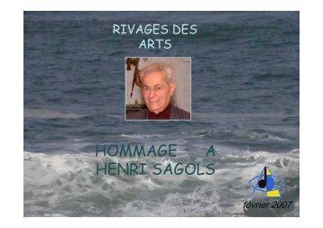 hommage a henri sagols - rivages des arts