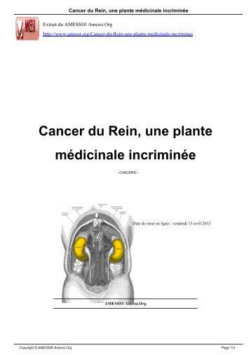 Cancer du Rein, une plante médicinale incriminée - AMESSI ...