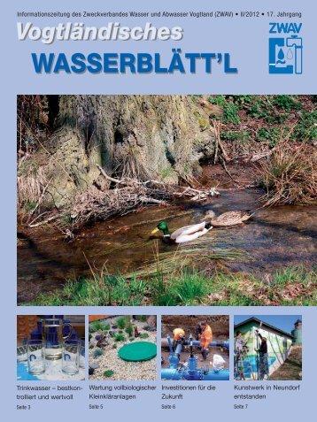Vogtländisches Wasserblätt'l - Zweckverband Wasser und Abwasser ...