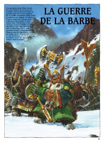 La guerre de la Barbe (listes d'armée et héros) - le verrah rubicon