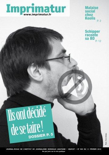 Imprimatur - Institut de Journalisme Bordeaux Aquitaine
