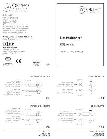Bite Positioner™ - Ortho Organizers