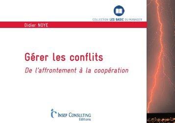 Pourquoi gérer les conflits - insep consulting edition