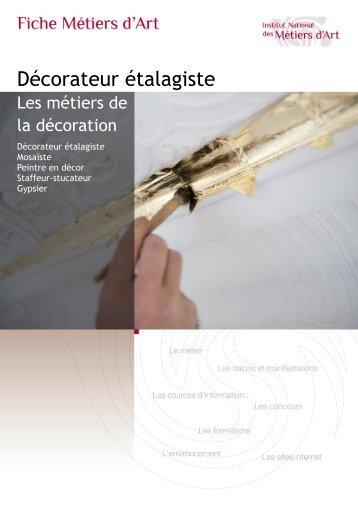 Fiche métier décorateur-étalagiste Télécharger au format PDF