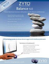 Biotics Balance Information Sheet - Zyto