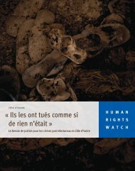 « Ils les ont tués comme si de rien n'était » - Human Rights Watch
