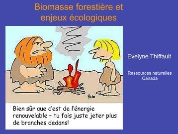 Biomasse forestière et enjeux écologiques - Forêt Modèle du Lac ...