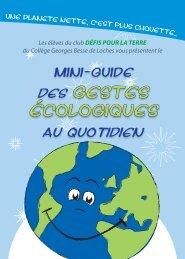 mini guide sur les gestes écologiques - Collège Georges Besse