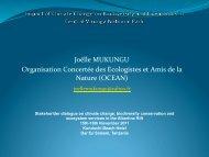 Joëlle MUKUNGU Organisation Concertée des Ecologistes et Amis ...
