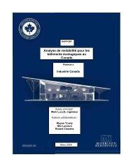 Analyse de rentabilité pour les bâtiments écologiques au ... - CaGBC